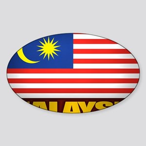 Malay (Laptop Skin) Sticker (Oval)