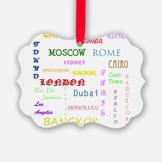 Famous Cities Ornament