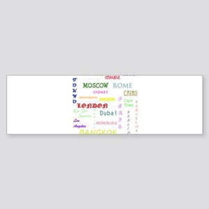 Famous Cities Bumper Sticker