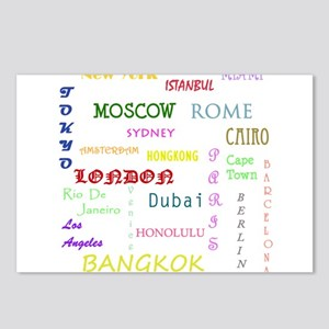 Famous Cities Postcards (Package of 8)