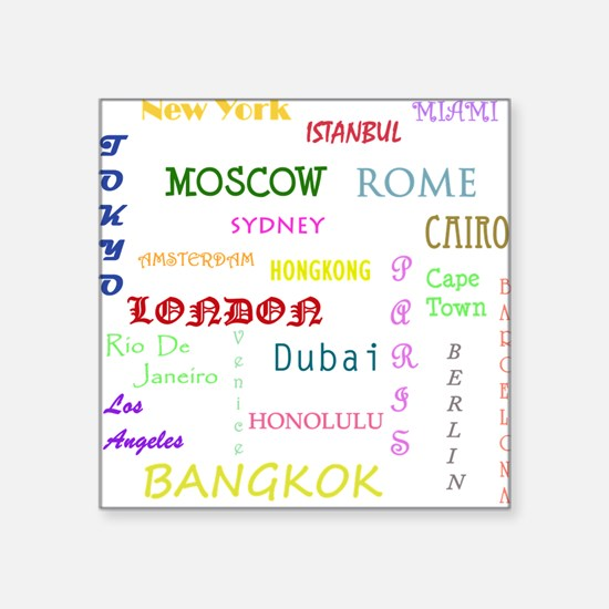 Famous Cities Sticker