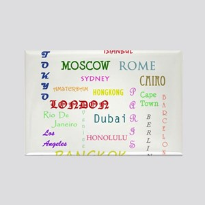 Famous Cities Magnets