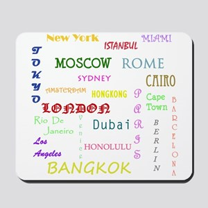 Famous Cities Mousepad