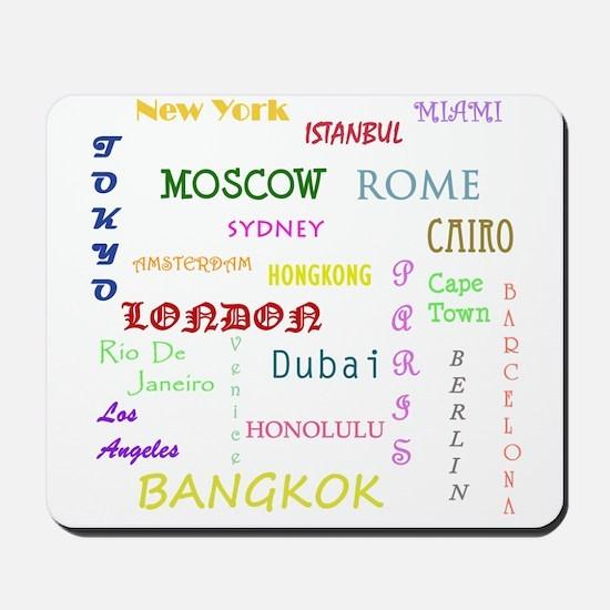 Famous Cities Mousepad