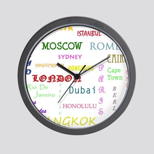 Famous Cities Wall Clock