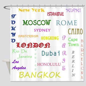 Famous Cities Shower Curtain