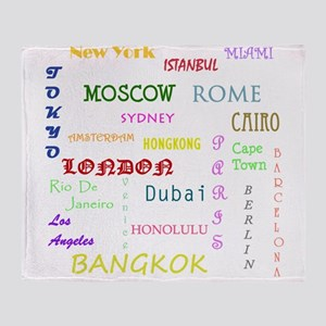 Famous Cities Throw Blanket