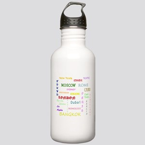 Famous Cities Water Bottle