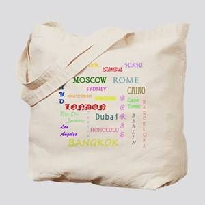 Famous Cities Tote Bag