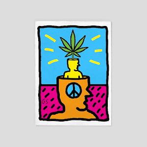 Weed Head 5'x7'Area Rug