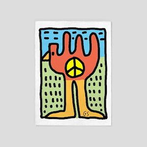 Bird of Peace 5'x7'Area Rug