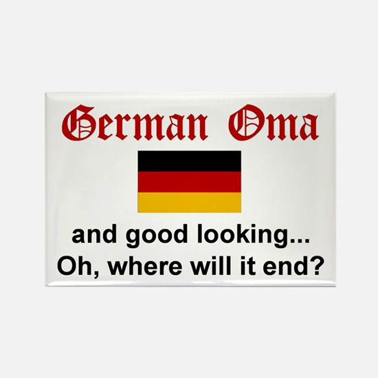 Good Looking German Oma Rectangle Magnet