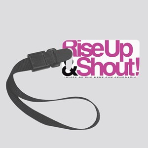 riseupwithtexttrans Small Luggage Tag