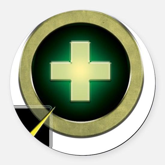 Healer2 Round Car Magnet