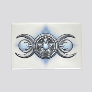 Triple Goddess - Moonstone - tran Rectangle Magnet