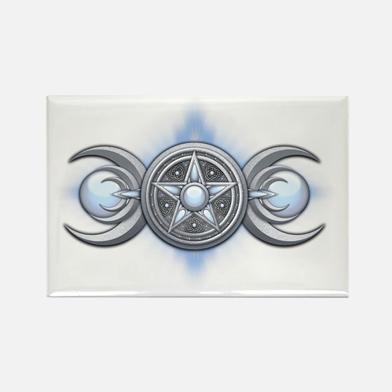 Triple Goddess - Moonstone - tran Rectangle Magnet