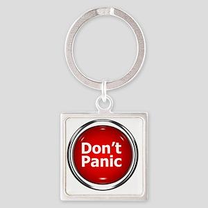z-button-dontpanic Square Keychain