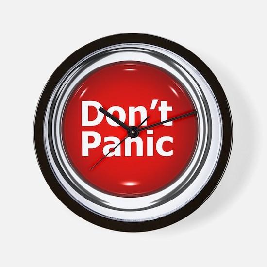 z-button-dontpanic Wall Clock