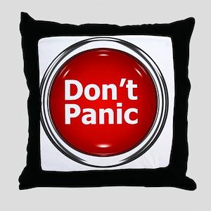 z-button-dontpanic Throw Pillow