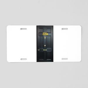 221B Door Aluminum License Plate