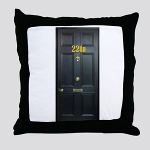 221B Door Throw Pillow