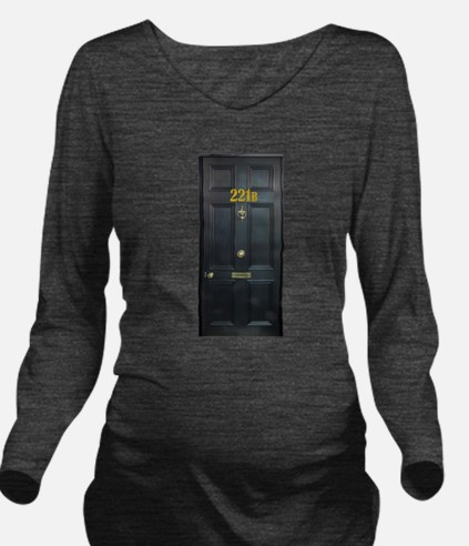 221B Door Long Sleeve Maternity T-Shirt