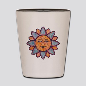 Sun Face Shot Glass