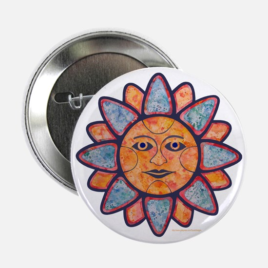 "Sun Face 2.25"" Button"
