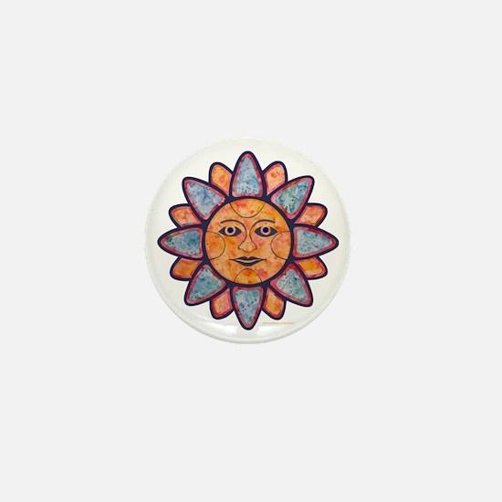 Sun Face Mini Button