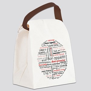 Bon appetit in many languages - R Canvas Lunch Bag