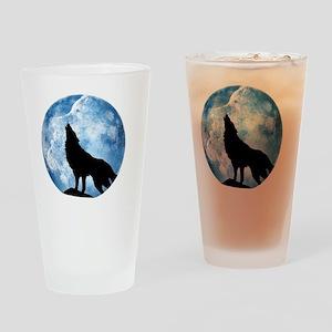 wolf Drinking Glass