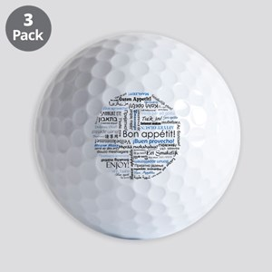 International cuisine lover merch - blu Golf Balls