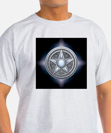 Pentacle - silver with moonstone - s T-Shirt
