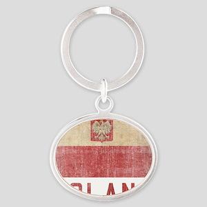 Poland16 Oval Keychain