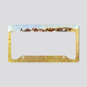 An Old Time Plains Fight, 190 License Plate Holder