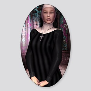 SAINT_Teresa_journal Sticker (Oval)