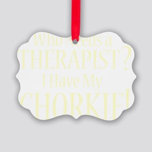 therapistchorkie_black Picture Ornament