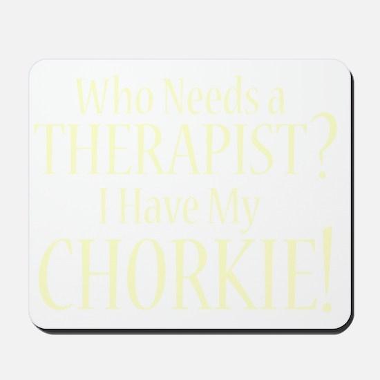 therapistchorkie_black Mousepad