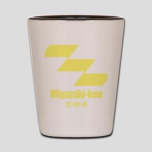 Miyazaki-ken (flat) pocket Shot Glass