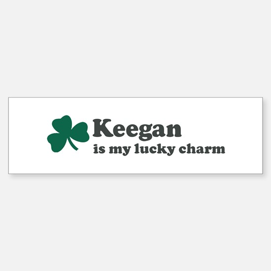 Keegan is my lucky charm Bumper Bumper Bumper Sticker