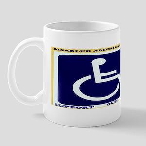 DISABLED VETERAN CAR MAGNET Mug