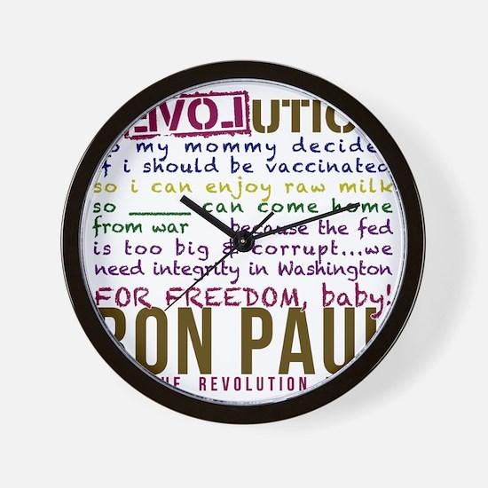 ron paul tike Wall Clock