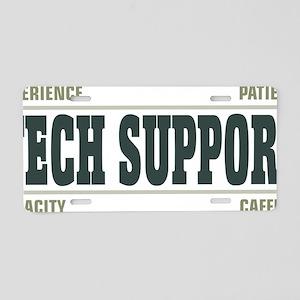 tech support - light Aluminum License Plate