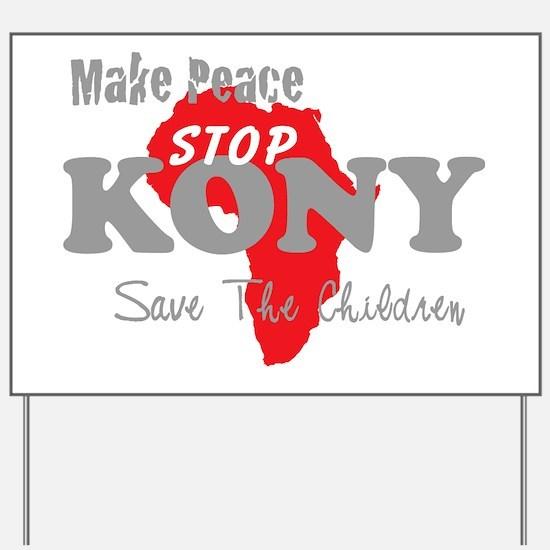 KONY Peace 2 Yard Sign