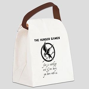 BURN_shirt copy Canvas Lunch Bag