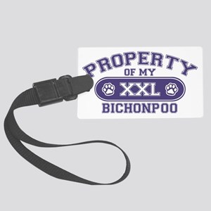 bichonpooproperty Large Luggage Tag