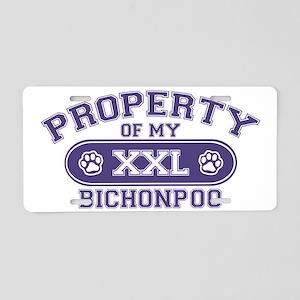 bichonpooproperty Aluminum License Plate