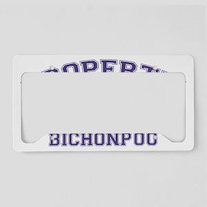 bichonpooproperty License Plate Holder