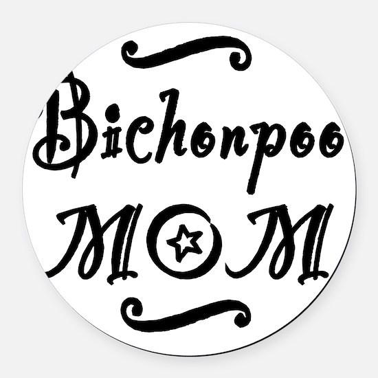 bichonpoomom Round Car Magnet