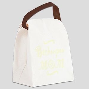 bichonpoomom_black Canvas Lunch Bag